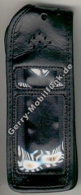 Ledertasche schwarz mit Gürtelclip Ericsson 318