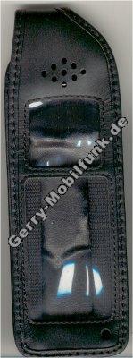 Ledertasche schwarz mit Gürtelclip Motorola Flair