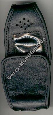 Ledertasche schwarz mit Gürtelclip Motorola CD920