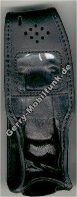 Ledertasche schwarz mit Gürtelclip Trium MT430