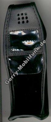 Ledertasche schwarz mit Clip Motorola 3188