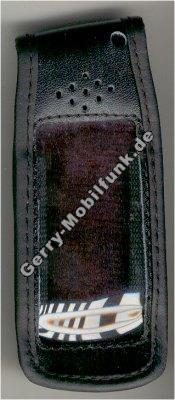 Ledertasche schwarz mit Gürtelclip Sony Z5