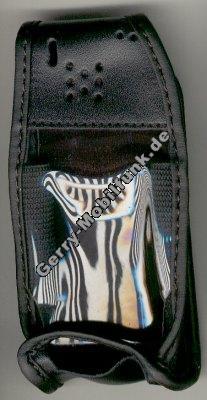 Ledertasche schwarz mit Gürtelclip Ericsson T10s und T10