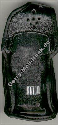 Ledertasche schwarz mit Gürtelclip Ericsson T28s und T28