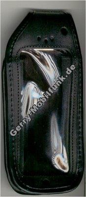 Ledertasche schwarz mit Gürtelclip Sagem 930
