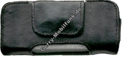 Ledertasche schwarz quer für Siemens SL45 S40 S45 ME45 Hardbox Premium