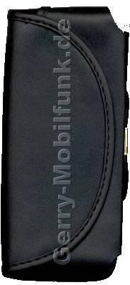 Ledertasche quer schwarz mit Gürtellasche Nokia 5510 7650