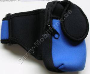 Oberarmtasche blau universal