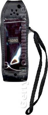 Ledertasche schwarz mit Gürtelclip Panasonic GD92