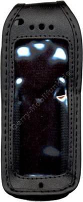 Ledertasche schwarz mit Gürtelclip Samsung N500