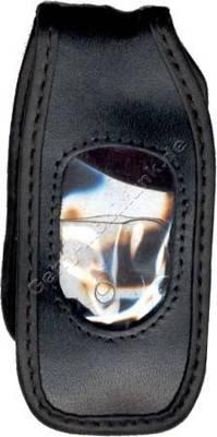 Ledertasche schwarz mit Gürtelclip Samsung A800