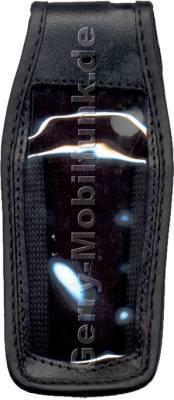 Ledertasche schwarz mit Gürtelclip Nokia 7250 7250i