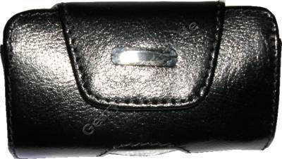 Ledertasche schwarz quer für Samsung V200 Quertasche