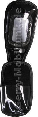 Ledertasche schwarz mit Gürtelclip Sharp GX30