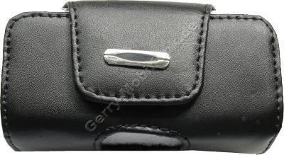 Ledertasche schwarz quer für Samsung Q200