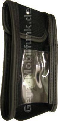 Ledertasche schwarz mit Gürtelclip Sharp TM100