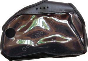 Ledertasche schwarz mit Gürtelclip Nokia 7700