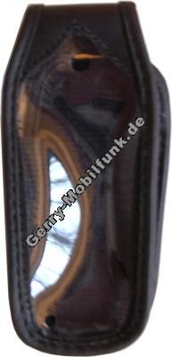 Ledertasche schwarz mit Gürtelclip Motorola C116
