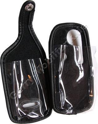 Ledertasche schwarz mit Gürtelclip Sharp 908