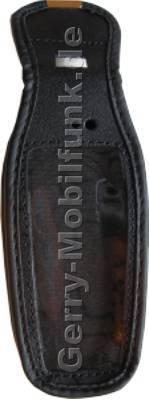 Ledertasche schwarz mit Gürtelclip Nokia 2600