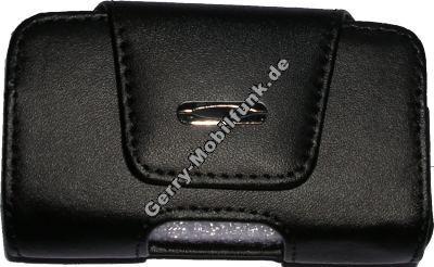 Ledertasche schwarz quer für LG 800 Exklusive Quertasche