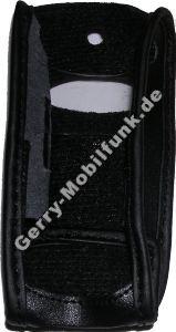 Ledertasche schwarz mit Gürtelclip Samsung D600