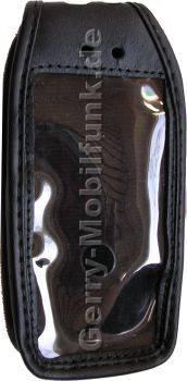 Ledertasche schwarz mit Gürtelclip Nokia 3230