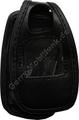 Ledertasche schwarz mit Gürtelclip Nokia 6101