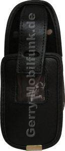 Ledertasche schwarz mit Gürtelclip Toshiba TS921