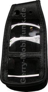Ledertasche schwarz mit Gürtelclip SonyEricsson W900i