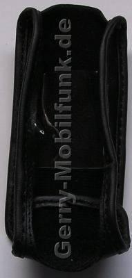 Ledertasche schwarz mit Gürtelclip Samsung D520