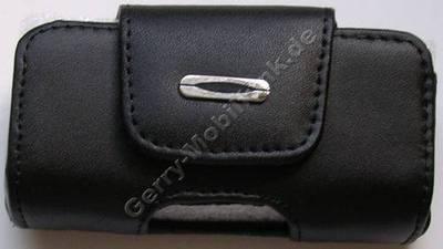 Ledertasche schwarz quer für Nokia N73 Hardbox Premium Quertasche