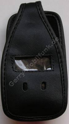 Ledertasche schwarz mit Gürtelclip Nokia N93