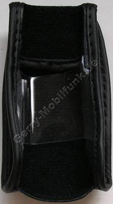 Ledertasche schwarz mit Gürtelclip Samsung Z400