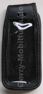 Ledertasche schwarz mit Gürtelclip Motorola W230