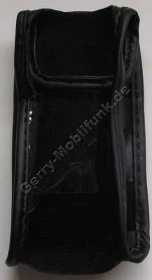 Ledertasche schwarz mit Gürtelclip Samsung F330