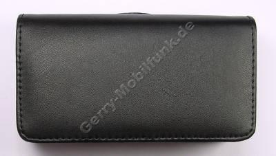 Quer-Ledertasche schwarz Samsung i900 Omnia, Etui-Tasche
