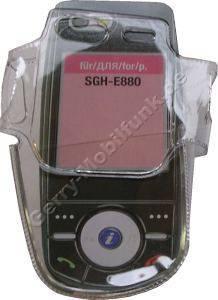 Kondomtasche für Samsung E880 exclusiv invisible case transparent , unauffälliger und effektiver Schutz für Ihr Handy
