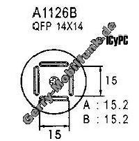 1 Stück Ersatz Heißluftdüse, quadratisch, 15,2mm für Aoyue 968 und 850C QFP 14x14