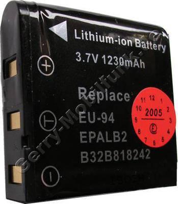 Akku Epson EPALB2 (B32B818242) schwarz Daten: 1230mAh 3,7V LiIon 9,5mm ca 30g (Zubehörakku vom Markenhersteller)